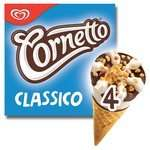 Cornetto Classico Ice Cream Cones 4 x 90ml was £2.14 now £1.00 @ Morrisons