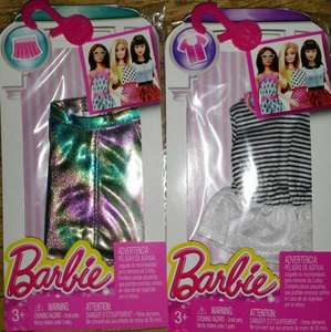Barbie Oufits (Tops, Skirts, Trousers etc), £1 In Poundworld In Store