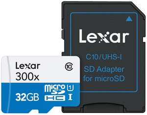 Lexar 32GB Micro SDHC UHS-I U1 Card with Adapter  £8.54(delivered) mymemory with code or 2 for £16
