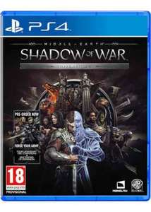 Middle Earth Shadow of War Silver Edition preorder (PS4/XB1) £48.99 @ Grainger games