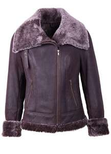 Ladies Lakeland Leather, Shearling coat - was £699 now £199 sizes available ONLY 8 or 10.