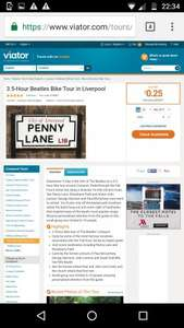3.5 Hour Beatles Bike Tour in Liverpool @ Viator just 25p!