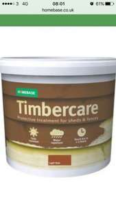Homebase Timbercare 5L £4 or 9L for £7 @ Homebase