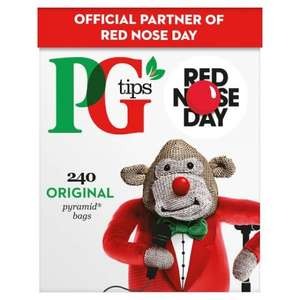 Pg Tips 240S Pyramid Teabags 696G @ Tesco - £2.99