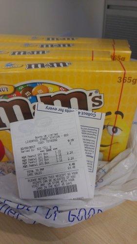 Peanut M&Ms 365g Box £1.12 @ Boots