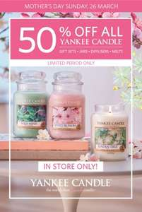 yankee candles half price in store at clintons