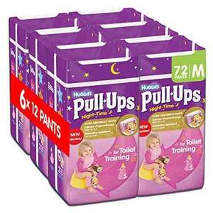 Huggies Pull Ups Night Time Potty Training Pants for Girls - Medium, 72 Pants @ Amazon Prime for £12 (£16.75 non-Prime)