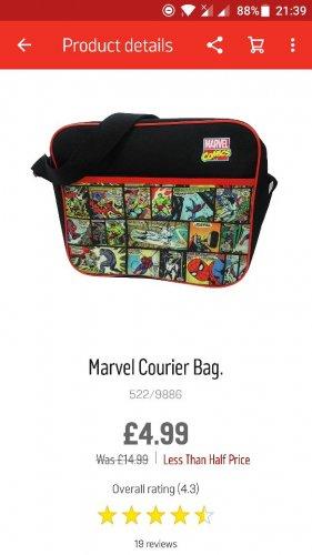 Marvel Courier Bag at Argos - £4.99 (Free C&C)