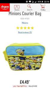 Minions Courier Bag at Argos - £4.49 (Free C&C)