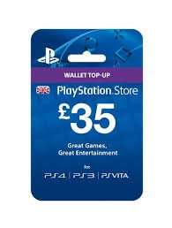 PlayStation wallet £35 card for £33.25 @ Tesco Direct