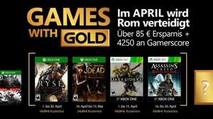 April's Games With Gold (Ryse, Darksiders, The Walking Dead: Season 2 and Assassin's Creed: Revelations)
