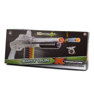 RED5 Velocity One Shotgun Dart Blaster Gun With Ten Soft Suction Darts & Target - £4.49 @ Ebay Argos