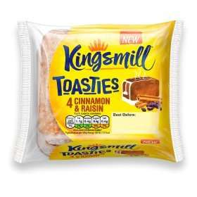 Kingsmill Toasties 4 pack (Honey Oat And Red Berry, Cinnamon Raisin or Mixed Berry) Rollback deal 50p @ Asda Online and Instore.