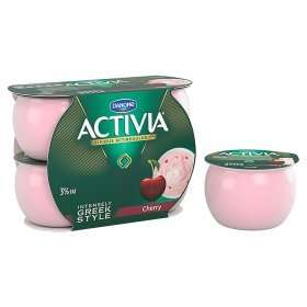 Activia Intensely Creamy Greek Style Yogurts (various) 4 pack Was £2.40 Now £1 @ Asda Online/Instore
