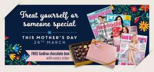 Subscribe to GOOD HOUSEKEEPING magazine subscription for just £14.50 for 6 months or £27.99 for one year, and save 46%  PLUS get a Free Box of Godiva chocolates worth £23!