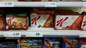 Special K chocolate chip cereal bars 5 50p instore @ Tesco