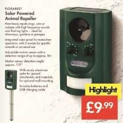 Animal Repeller - Solar Powered - £9.99 - LIDL (Florabest)- Instore - 3 Year Warranty