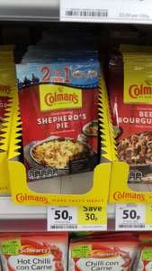 2 for 1 entry Thorpe Park on colmans seasoning mix pack just 50p @ tesco
