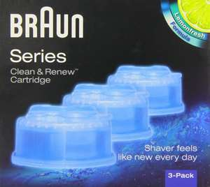Braun Clean & Renew CCR3 Electric Shaver Refill Cartridges - £9.74  Pack of 3 @ Amazon (Prime)