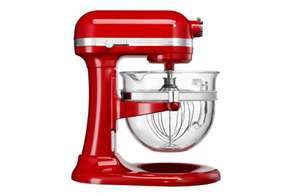 KitchenAid Artisan 6L Glass Bowl-Lift Mixer Empire Red - RRP £779 now £499 @ eCookshop