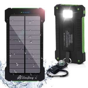 Amazon Hiluckey solar powered 10000mah portable power bank with led flashlight £15.99 (Prime) Sold by Hiluckey and Fulfilled by Amazon.