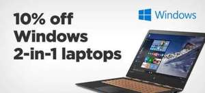10% Off on all 2 in 1 Laptops including Microsoft Surface Pro @ AO.Com