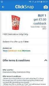 Celebrations £2.00 - FREE via Clicksnap Valid at Tesco, Sainsbury's, Asda, Morrisons