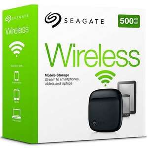 Seagate Wireless Mobile Storage Portable Hard Drive, 500GB - £49.98 @ John Lewis