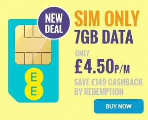 Back on! EE 7GB UNLIMITED MINS, FREE ROAMING & 12 MONTHS BT SPORT - £4.50 after cashback redemption (possible additional Quidco/topcashback) 12M @ e2save.co.uk (reg. price £16.99pm) - £203.88