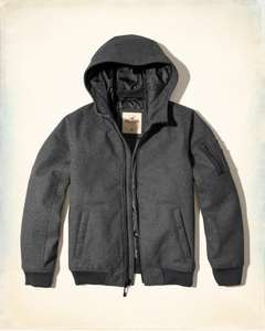 Hollister (guys) Hooded Wool-Blend Bomber Jacket was £89 now £15.99 (free delivery)
