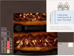 Waitrose Belgian Chocolate & Malt Éclairs (2's) was £2.50 now £1.25 @ Waitrose