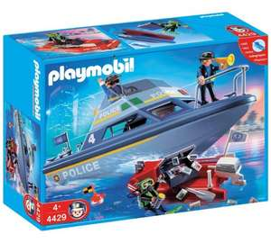 Playmobile Police Boat Playset now £12.49 was £24.99 free C&C at Argos