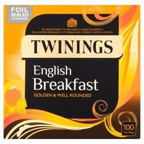 Twinings English Breakfast Tea 100 teabags £2 with PYO were £4.99 @ Waitrose.  See link for other Twinings reductions.