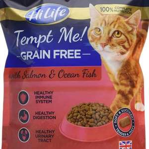 HiLife Tempt Me! Grain Free Cat Food Salmon & Ocean Fish '4 x 800g Bags' VOUCHER FOR 20% valid until 31/03 @ Amazon for £9.74 (Prime and S&S or add £4.75 non-Prime)