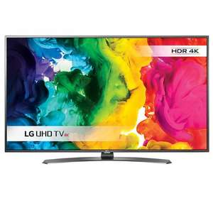 49'' 4K Ultra HD, built in WiFi LED HDR LG 49UH661V Smart TV,  With Freeview HD & Metallic Design with 5 year Guarantee at John Lewis for £499