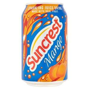 Suncrest Sparkling Mango 330ml Cans 20p @ Poundstretcher