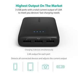 Portable Charger RAVPower 22000mAh Power Bank 5.8A Output 3-Port External Battery Pack (was £28.99) £20.29 @ Sold by Sunvalleytek-UK and Fulfilled by Amazon