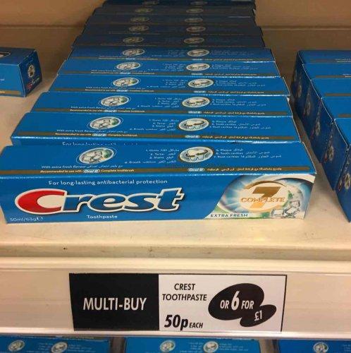 Crest toothpaste 6 for £1 instore @ Watt brothers Sauchiehall Street Glasgow