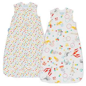 Grobag 2.5 tog pack of 2, 6-18 months £25 delivered @ Amazon (0-6mths now £22.50)