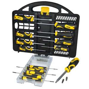 Stanley 34-Piece Professional Screwdriver Set with Carry Case - was £26.99 now £11.69 with code @ Robert Dyas (C&C)