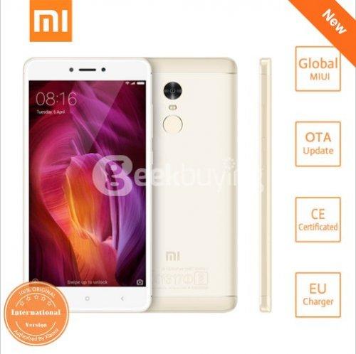Xiaomi Redmi Note 4, 3GB/32Gb Global version(Band20) Gold £140.51 @ Geekbuying