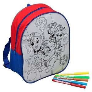 Paw Patrol Colour Your Own Backpack Was £10 Now £5 From Tomorrow 27th @ Tesco