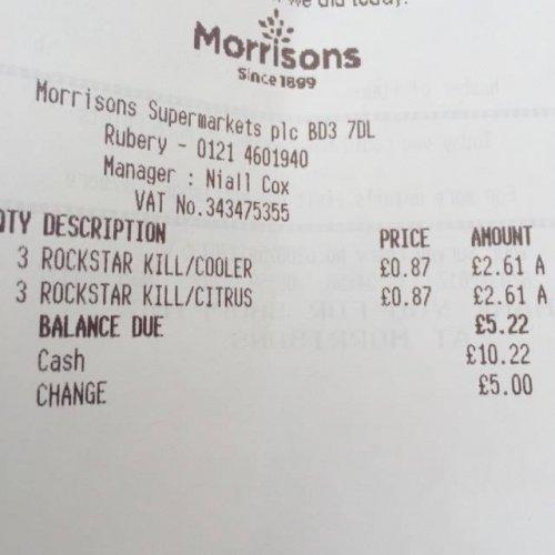 Rockstar Revolt Energy Drink 87p @ Morrisons