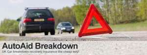 Car breakdown & recovery cover £42.54 @ AutoAid
