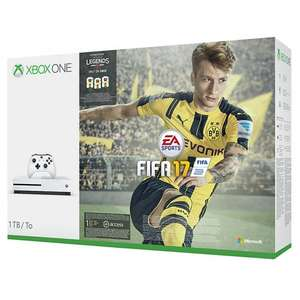 Xbox One S 1TB with FIFA 17 and free controller (accidental damage cover for 2 years only £15 as well) - £259.95 @ John Lewis