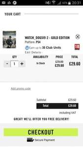 Watchdogs 2 Gold Edition (PS4) - £29.60 @ Ubisoft