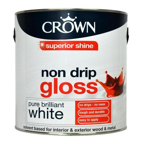 Crown Non Drip Gloss Paint Pure Brilliant White 2.5L  £10 @ wilko