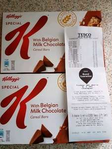 Kelloggs Special K Cereal Bars Belgian Milk Chocolate 5 pack Less Than Half Price Was £1.99 Now 50p Tesco Stourbridge in store