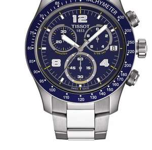 Tissot V8 men's blue dial chronograph bracelet watch - £109 down from £310 @ Ernest Jones