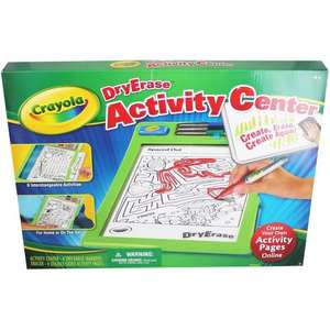 Crayola dry erase activity centre  £6 @ the works free c&c  (£17.90 @ amazon)